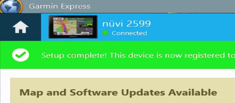 Nuvi Update using Garmin Express