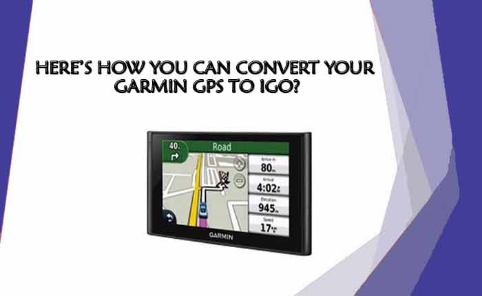 convert Garmin GPS to IGO